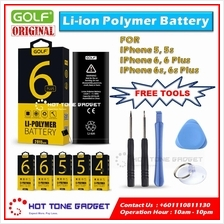 iPhone 4 4S 5 5S 6 6S 7 Plus Golf Battery Original+FREE TOOLS 6 MTH