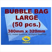 x 50 pcs. LARGE BUBBLE WRAP BAG 380mm x 320mm NO Flap ONLINE PROMO