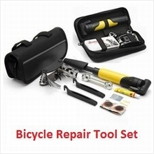 Bike Bicycle Repair Tool Set with Air Pump and Tool Bag