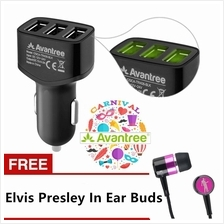 AVANTREE 4.8A Fast Charging 3 USB Car Mobile Charger TR408 FREE ELVIS