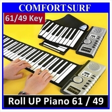 61/49 Roll Up Piano Flexible Portable Electronic Soft Piano Keyboard