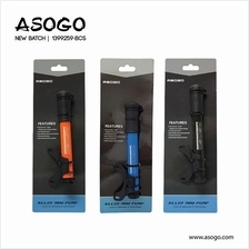 [CRONUS.MY] ASOGO ALLOY MINI PUMP BICYCLE BIKE ACCESSORIES 1399259