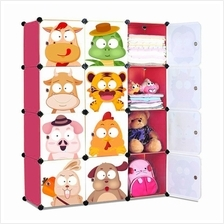 Living Cabinet 12 Cubes Easy DIY Zodiac Cartoon Wardrobe