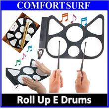 Portable USB Roll Up Electronic Drum Child Kids Musical Instrument