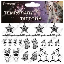 Christmas Waterproof Tattoo Stickers~ Best for Party & Fun!