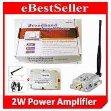 2W Wifi Signal Booster Amplifier for 2.4GHz Wireless WiFi 802.11 b/g