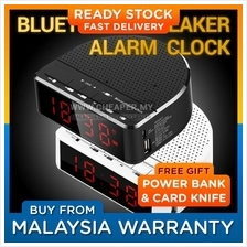 Bluetooth Wireless Speaker with Alarm Clock, Radio, Memory Card