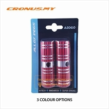 [CRONUS.MY] BICYCLE BIKE ALLOY PEG 1 PAIR 25 X 75MM X 3/8' | 3 COLOURS