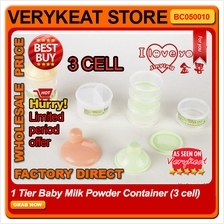 1 Tier Baby Milk Powder Container (3 cell)