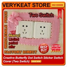 Creative Butterfly Dot Switch Sticker Switch Cover (Two Switch)