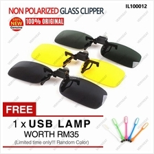 Non Polarized Day Night Vision Clip on Flip Up Driving Glass Glasses