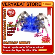 Electric spider robot DIY educational Assembles Toys For Kids Gifts