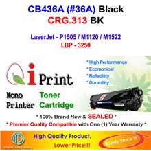 HP CB436A 36A P1505 M1522 CRG 313 Toner Compatible * NEW SEALED *