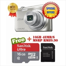 Nikon Coolpix S2900 20.1MP Black + 16GB (Original Nikon Malaysia