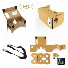Size XL DIY Google Cardboard Virtual support 6' screen mobile + NFC