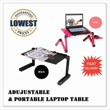 Limited Time PROMO 360° Multi-Angle Adjustable & Portable Laptop Table