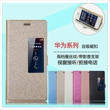 Huawei Ascend P7 leather case+diamond SP+ gift
