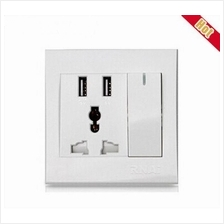 2.1A USB With Universal 86 Type Wall Socket FacePlat Charger