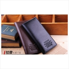 Woerfu Men High Quality Long Genuine Leather Wallet