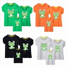 Frog Family kids dad mom tshirt five little speckled frogs