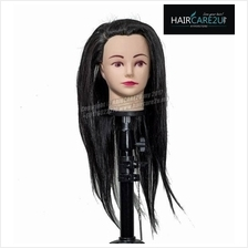 18 inches Mannequin Head 60/40 Semi Human Hair with Table Clamp Holder