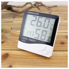 HTC-1 Digital Thermometer LCD Alarm Clock Temperature Thermohygrometer