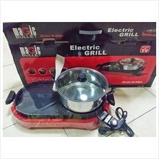 Electric Grill Bbq And Steamboat 2 In 1