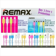 REMAX Original Light Speed Iphone & Micro USB Data Charge Cable