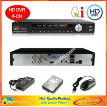 Qi Tech CCTV 4-Channels HD Hybrid Network DVR Recorder * Apps Store *