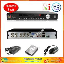 Qi Tech CCTV 8-Channels HD Hybrid Network DVR + 1TB - Apps Store*