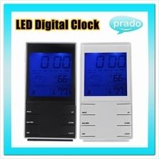 Weather Forecast Station LCD LED Digital Alarm Clock Thermometer 480