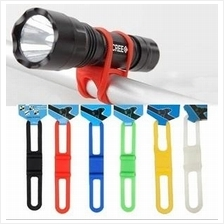 72 - Bike Bicycle Highly Elastic Silicone Belt Grip torchlight holder