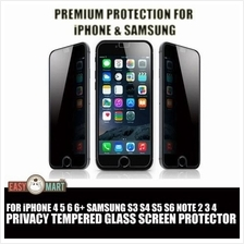 iPhone 4 5 6 6S 6+ Note 2 3 4 Privacy Tempered Glass Screen Protector