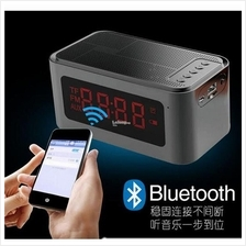 Home Wireless Bluetooth 4.0 Speaker With LED Display/Time/Alarm Clock/