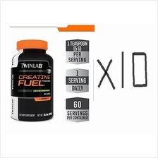 10 UNITS Twinlab Creatine Fuel 300gram 60serving (Muscle Strength Size