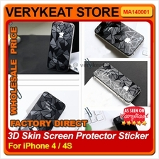 3D Skin iPhone 4 4S Screen Protector Sticker