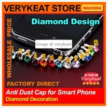 Korea Diamond Decoration Anti Dust Cap for iphone