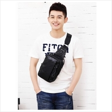Men High Quality PU Leather Sling Bag Shoulder Chest