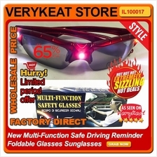 New Multi-Function Safe Driving Reminder Foldable Glasses Sunglasses