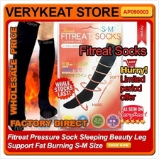 Fitreat Pressure Sock Sleeping Beauty Leg Support Fat Burning S-M Size