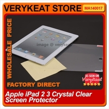 Apple iPad 2 3 Air Crystal Clear Screen Protector