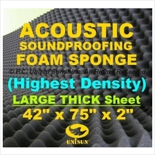 Grade AA ACOUSTIC SoundProofing FOAM SPONGE Large Thick Sheet