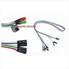 ATX Power On Reset Switch Cable With LED Light (CP-C-140)