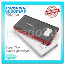 ORIGINAL PINENG Ultra Thin PN-960 PN960 6000mAh Power Bank Dual USBscs
