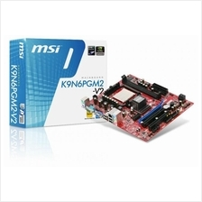 READY STOCK NEW~MSI K9N6PGM2-V2 AMD AM2 AM2+ Socket Motherboard
