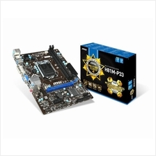 MSI H81M-P33 LGA 1150 Socket Intel H81 Motherboard