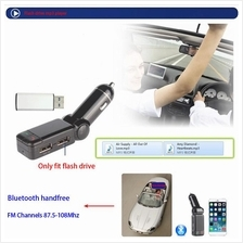 Portable Hands Free Bluetooth Car Kit,Car Charger Dual USB