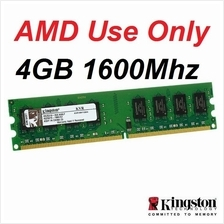 4GB Kingston DDR3 1600MHz Desktop PC AMD RAM Memory KVR16N11S8/4 Dimm