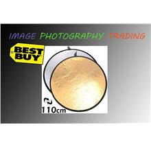 110cm Gold Silver 2 in 1 Collapsible Reflector