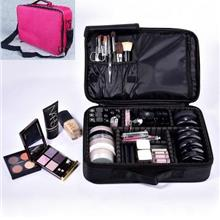 Pro-Makeup Bag Compartment Travel Bag Portable Makeup Organizer